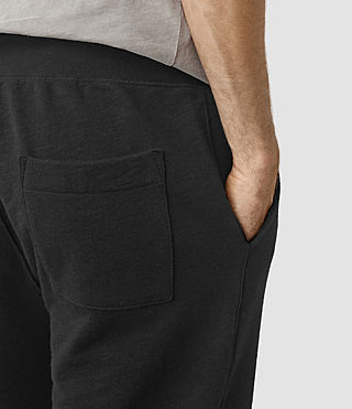 Hommes Wilde Sweatshort (Black) - product_image_alt_text_2