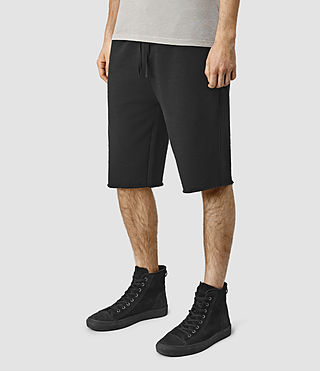 Hommes Wilde Sweatshort (Black) - product_image_alt_text_3