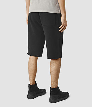 Hommes Wilde Sweatshort (Black) - product_image_alt_text_4