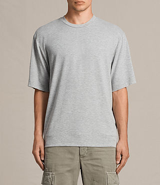 Mens Smith Short Sleeve Crew Sweatshirt (Grey Marl) - product_image_alt_text_2