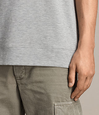 Mens Smith Short Sleeve Crew Sweatshirt (Grey Marl) - product_image_alt_text_4