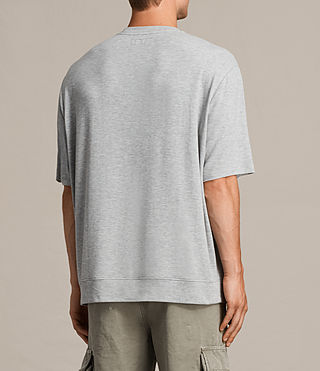 Mens Smith Short Sleeve Crew Sweatshirt (Grey Marl) - product_image_alt_text_6