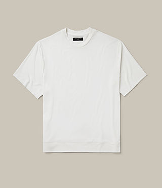 Mens Smith Short Sleeve Crew Sweatshirt (Vintage White) - product_image_alt_text_1