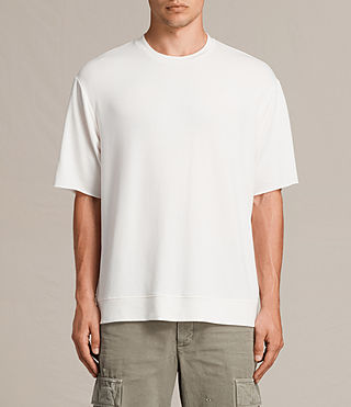 Mens Smith Short Sleeve Crew Sweatshirt (Vintage White) - product_image_alt_text_2