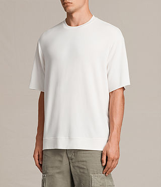 Mens Smith Short Sleeve Crew Sweatshirt (Vintage White) - product_image_alt_text_4