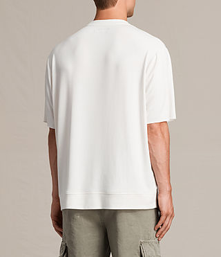Mens Smith Short Sleeve Crew Sweatshirt (Vintage White) - product_image_alt_text_5