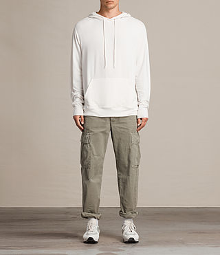 Mens Smith Pullover Hoody (Vintage White) - product_image_alt_text_2
