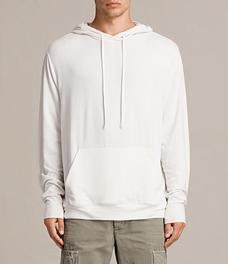 Mens Smith Pullover Hoody (Vintage White) - product_image_alt_text_4