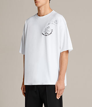 Mens Learn Short Sleeve Crew Sweatshirt (Optic White) - Image 4