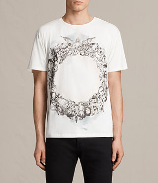 Mens Dead Ringer Crew T-Shirt (Chalk White)