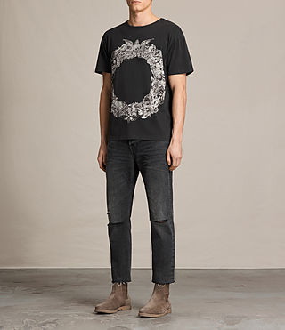 Men's Dead Ringer Crew T-Shirt (Vintage Black) - product_image_alt_text_3