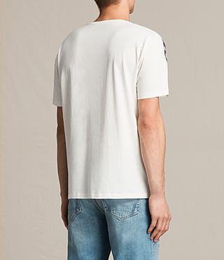 Mens Orbit Crew T-Shirt (Chalk White) - product_image_alt_text_4