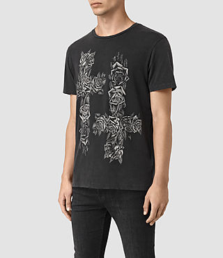 Mens Void Crew T-Shirt (Vintage Black) - product_image_alt_text_3
