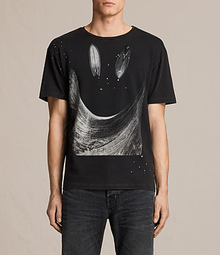 Men's Party Wave Crew T-shirt (Vintage Black)