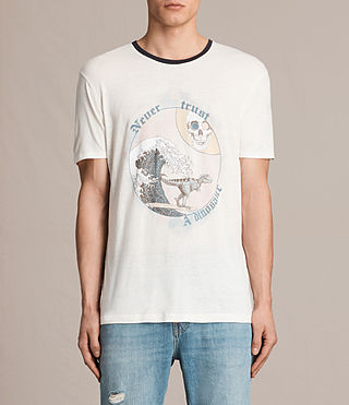 Mens Trust Crew T-Shirt (Chalk White)
