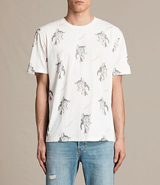 Men's Wolfie Crew T-Shirt (Chalk White)