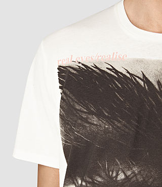 Mens Realise Crew T-Shirt (Chalk White) - product_image_alt_text_2
