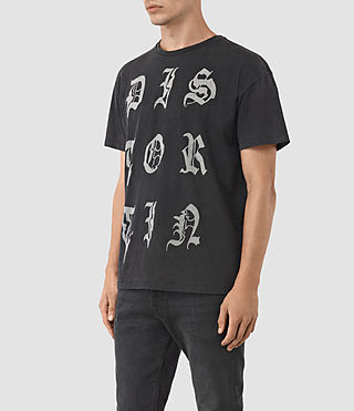 Hombres Distortin Crew T-Shirt (Vintage Black) - product_image_alt_text_2