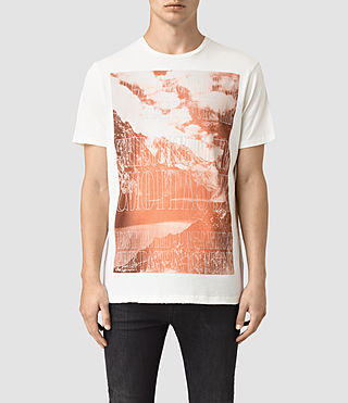 Hommes Mountain Crew T-Shirt (Chalk)