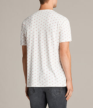 Herren Cherry Short Sleeve Crew T-Shirt (Chalk White) - product_image_alt_text_4