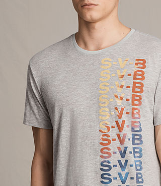 Hombres Subbed Crew T-Shirt (Grey Mouline) - product_image_alt_text_2