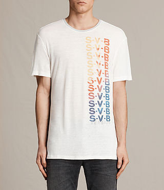 Mens Subbed Crew T-Shirt (CHALK WHITE/GREY)
