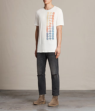 Men's Subbed Crew T-Shirt (CHALK WHITE/GREY) - product_image_alt_text_3
