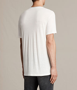 Men's Subbed Crew T-Shirt (CHALK WHITE/GREY) - product_image_alt_text_4
