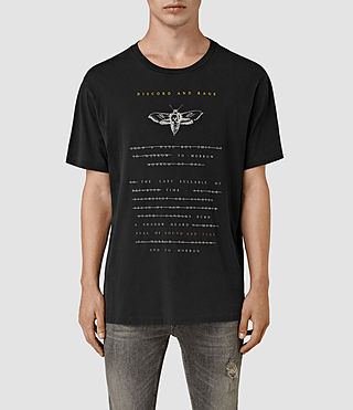 Mens Stitching Crew T-Shirt (Vintage Black) - product_image_alt_text_1