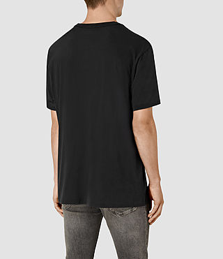 Mens Stitching Crew T-Shirt (Vintage Black) - product_image_alt_text_3