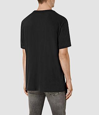 Hombres Stitching Crew T-Shirt (Vintage Black) - product_image_alt_text_3