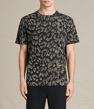 Hombre Leap Crew T-Shirt (Jet Black) - product_image_alt_text_1