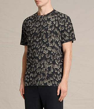 Hombre Leap Crew T-Shirt (Jet Black) - product_image_alt_text_2