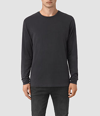 Herren Disarm Long Sleeve Crew T-Shirt (Vintage Black)