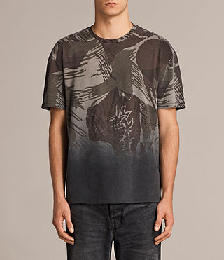 Mens Contour Crew T-Shirt (Black/Khaki) - product_image_alt_text_1