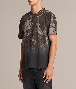 Mens Contour Crew T-Shirt (Black/Khaki) - product_image_alt_text_3