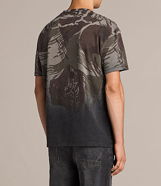 Men's Contour Crew T-Shirt (Black/Khaki) - product_image_alt_text_4