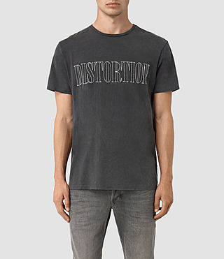 Herren Flow Embroidered Crew T-Shirt (Vintage Black)