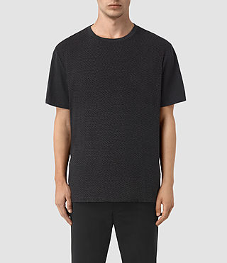 Mens Petal Motif Marzian T-Shirt (Jet Black) - product_image_alt_text_1