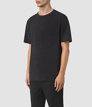 Mens Petal Motif Marzian T-Shirt (Jet Black) - product_image_alt_text_2