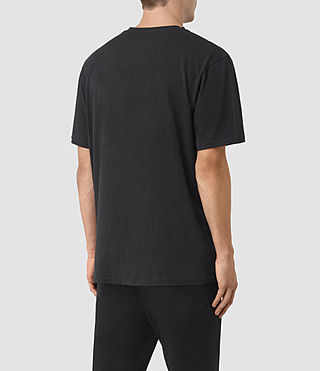 Men's Petal Motif Marzian T-Shirt (Jet Black) - product_image_alt_text_3
