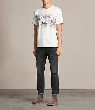 Hombres Camiseta Zeroes (CHK WHITE/INK NAVY) - product_image_alt_text_3