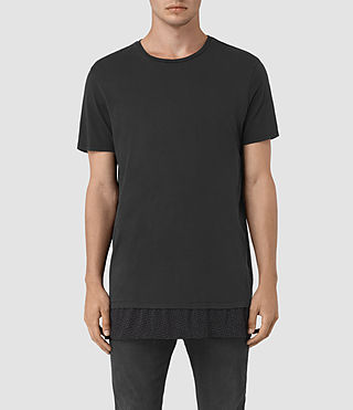 Hombres Petal Motif Remedy T-Shirt (Jet Black)