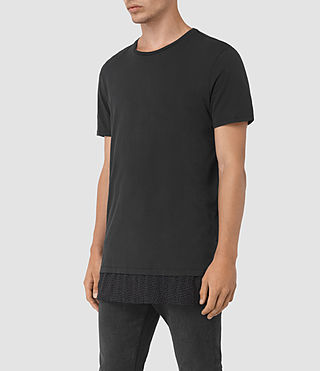 Mens Petal Motif Remedy T-Shirt (Jet Black) - product_image_alt_text_2