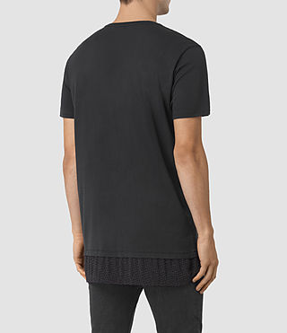 Mens Petal Motif Remedy T-Shirt (Jet Black) - product_image_alt_text_3