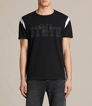 Hombres Up State Crew T-shirt (Vintage Black)