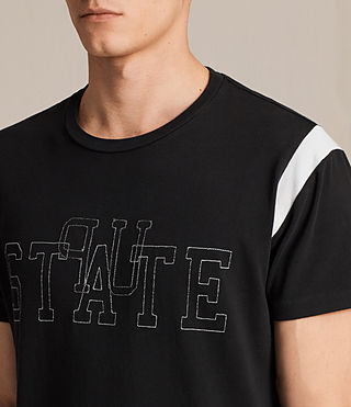 Hombres Up State Crew T-shirt (Vintage Black) - product_image_alt_text_2