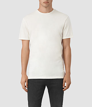 Mens Solice Quill Crew T-Shirts (Chalk)