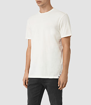 Men's Solice Quill Crew T-Shirts (Chalk) - product_image_alt_text_3