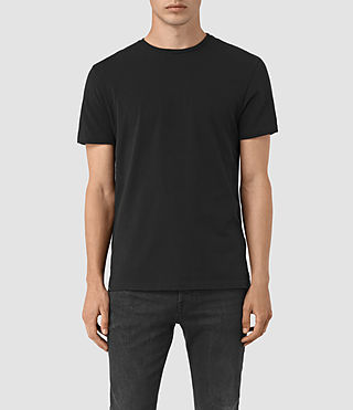 Uomo Solice Quill Crew T-Shirts (Vintage Black) -